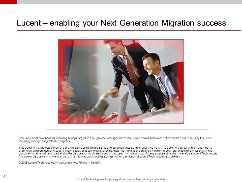 Lucent – enabling your Next Generation Migration success
