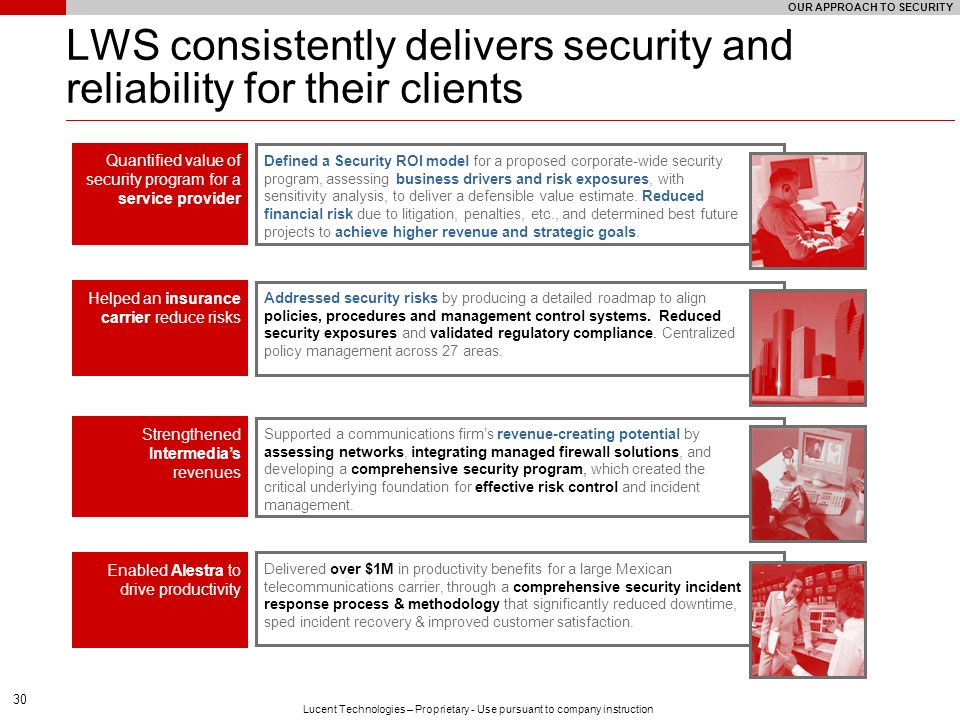 LWS consistently delivers security and reliability for their clients