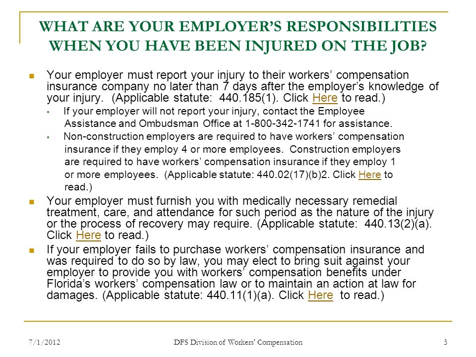 DFS Division of Workers Compensation