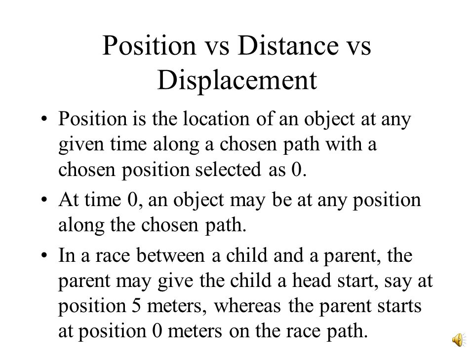Position vs Distance vs Displacement