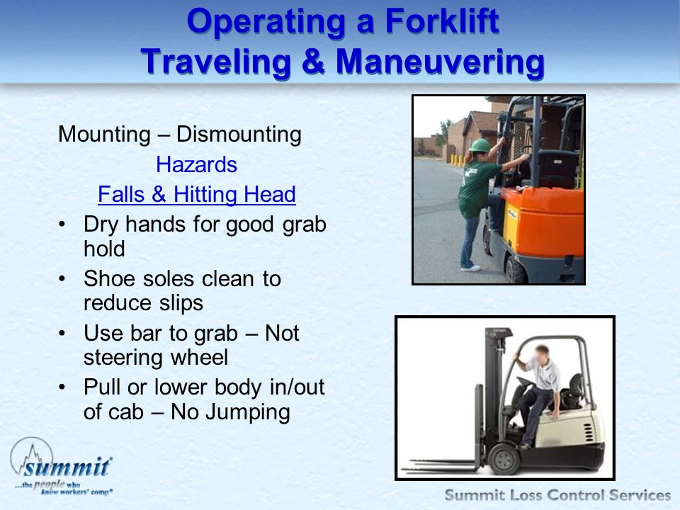 Operating a Forklift Traveling & Maneuvering