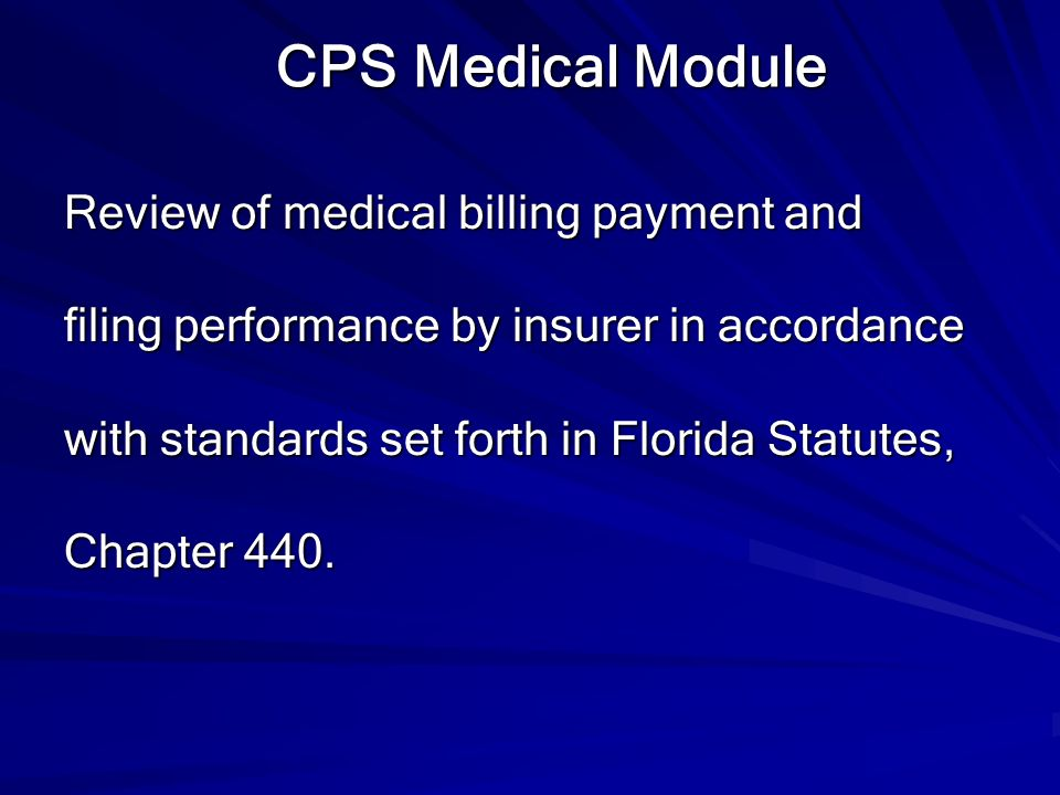 CPS Medical Module Review of medical billing payment and