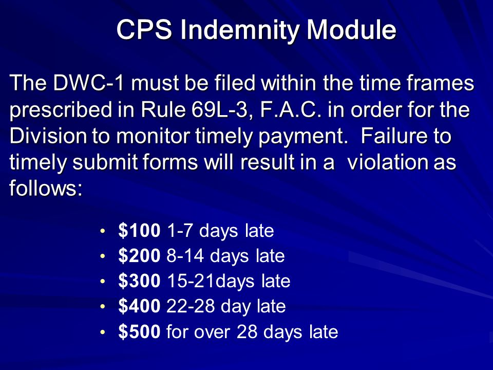 CPS Indemnity Module
