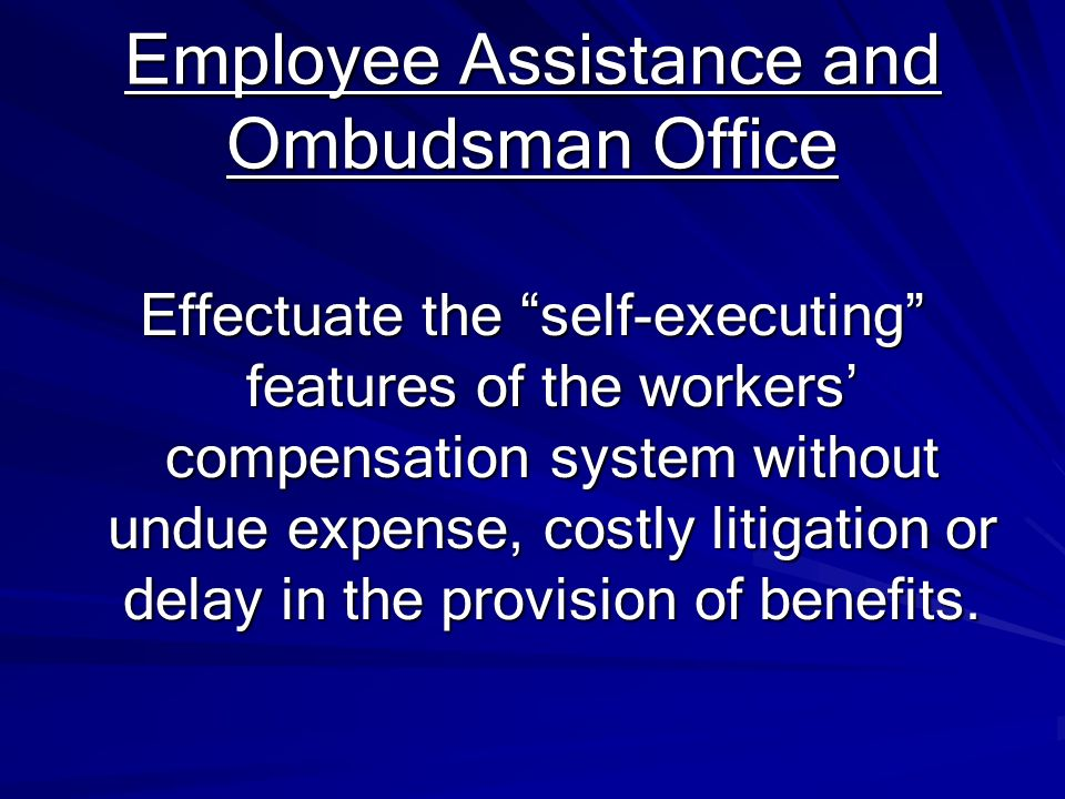 Employee Assistance and Ombudsman Office