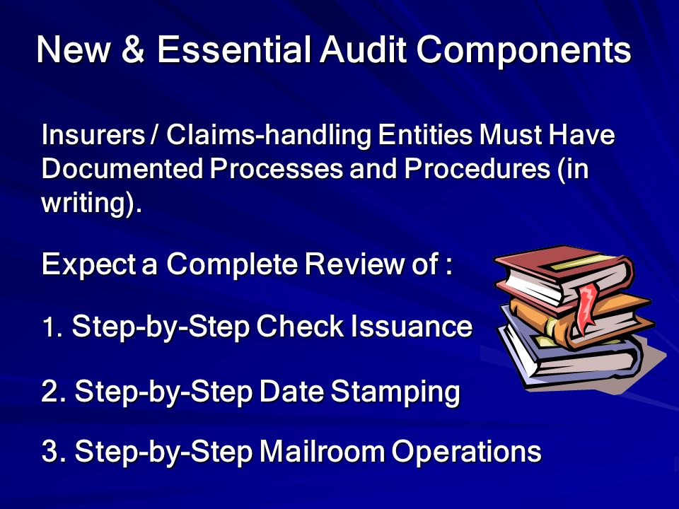 New & Essential Audit Components