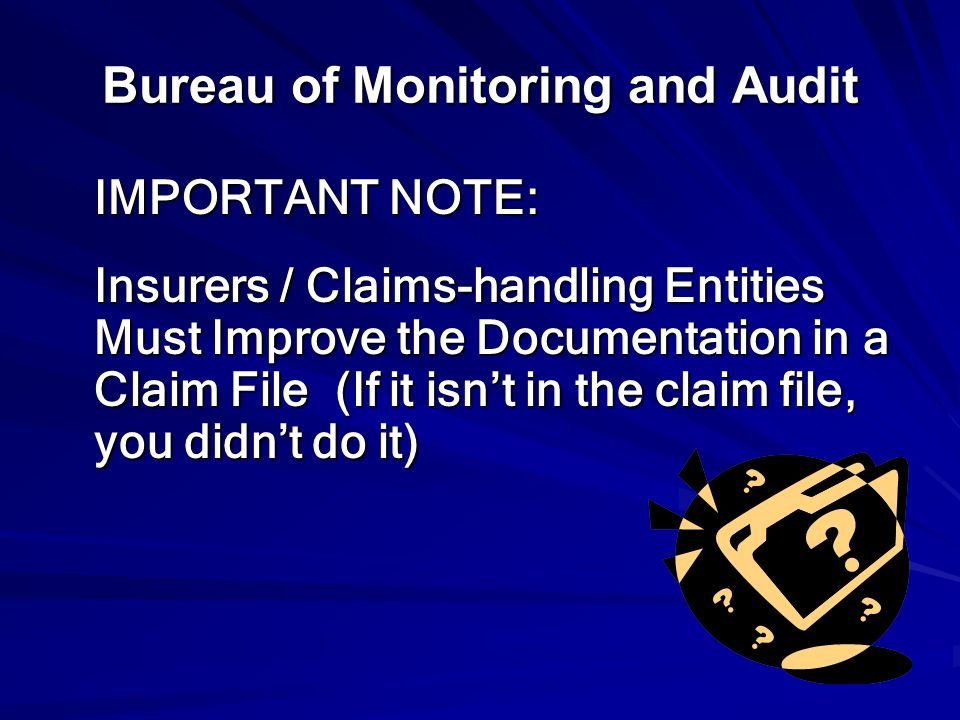 Bureau of Monitoring and Audit