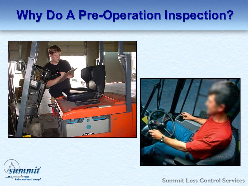 Why Do A Pre-Operation Inspection
