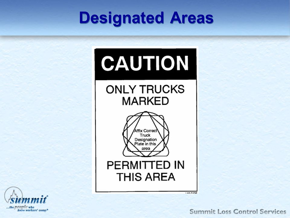 Designated Areas G-Gasoline