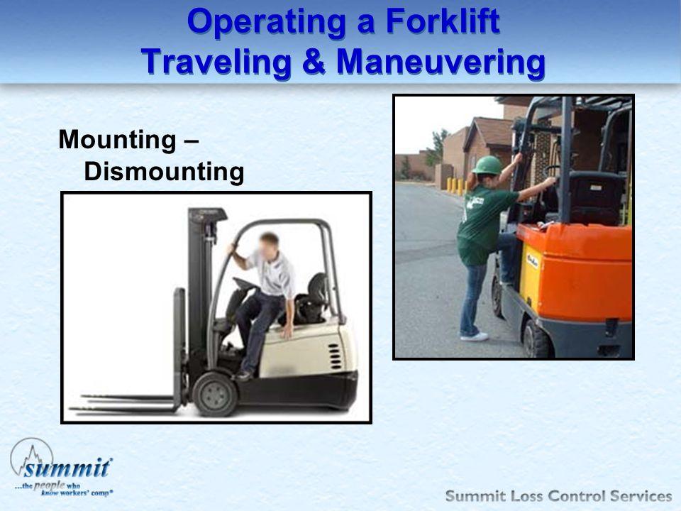 Operating a Forklift Traveling & Maneuvering