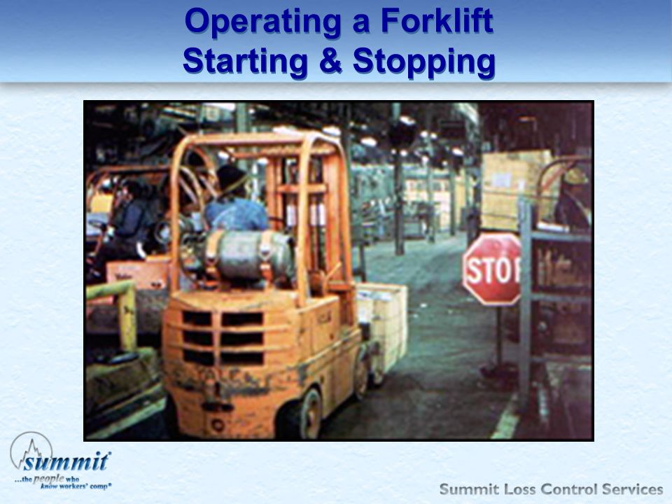 Operating a Forklift Starting & Stopping