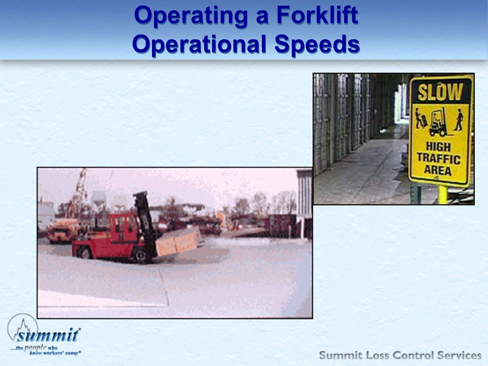 Operating a Forklift Operational Speeds