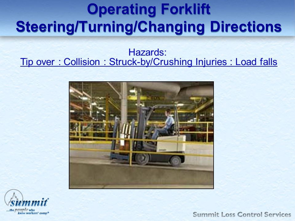 Operating Forklift Steering/Turning/Changing Directions