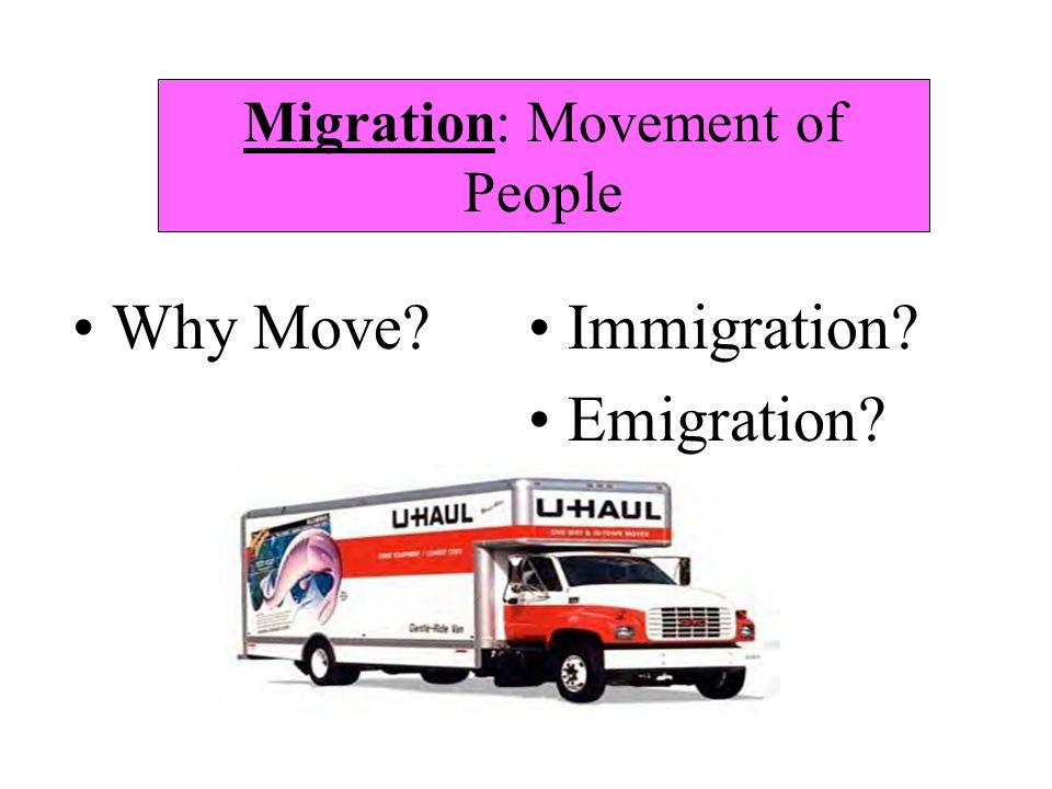Migration: Movement of People