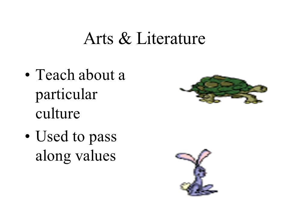 Arts & Literature Teach about a particular culture