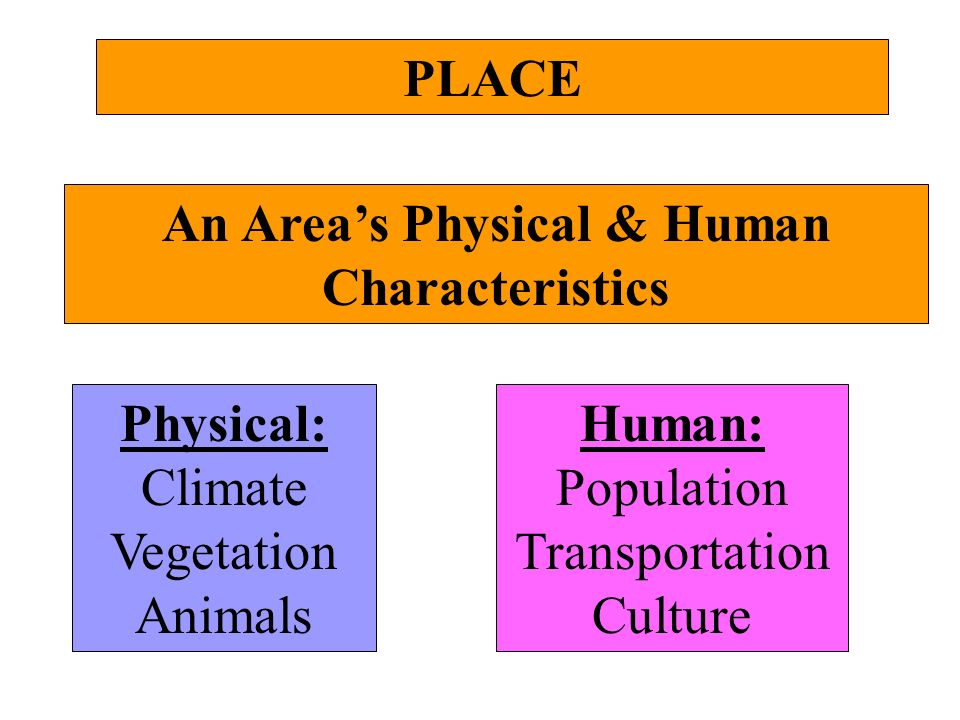 An Area's Physical & Human Characteristics