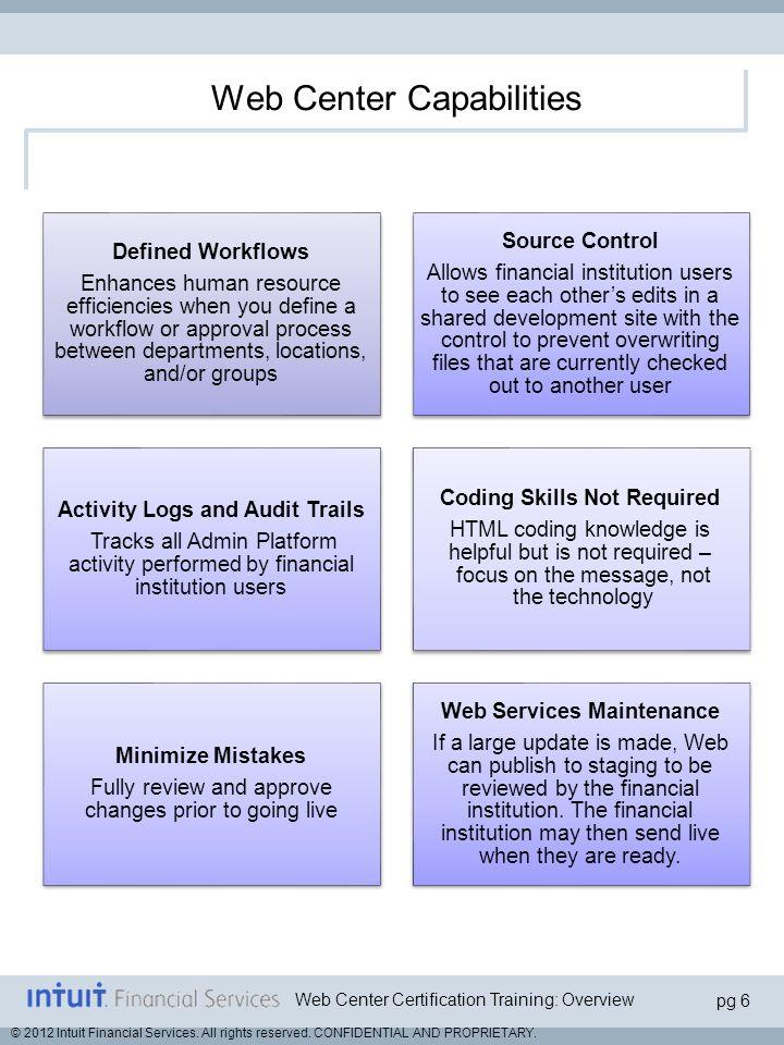Web Center Capabilities