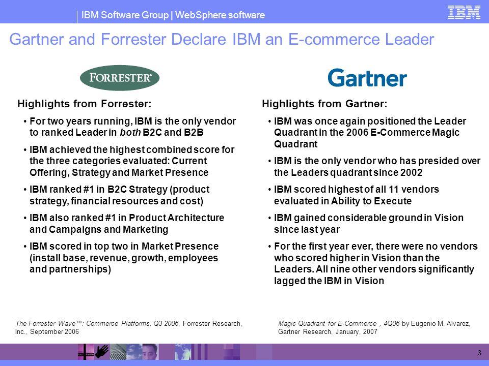 Gartner and Forrester Declare IBM an E-commerce Leader
