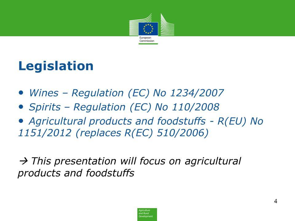 Legislation Wines – Regulation (EC) No 1234/2007