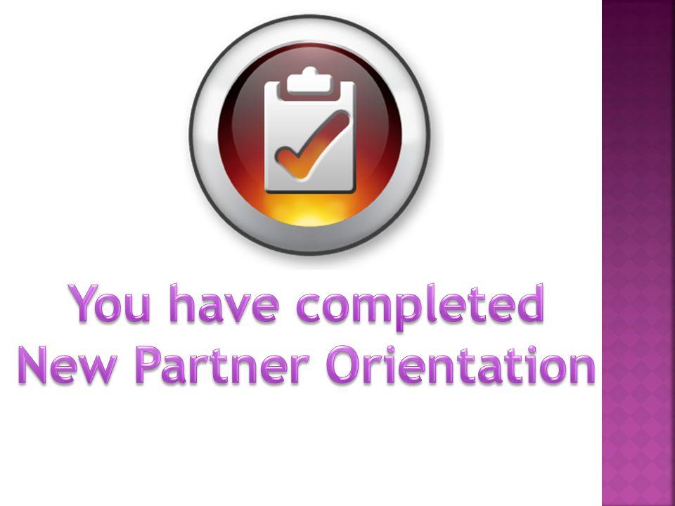 New Partner Orientation