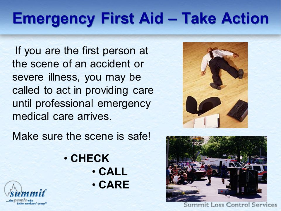 Emergency First Aid – Take Action