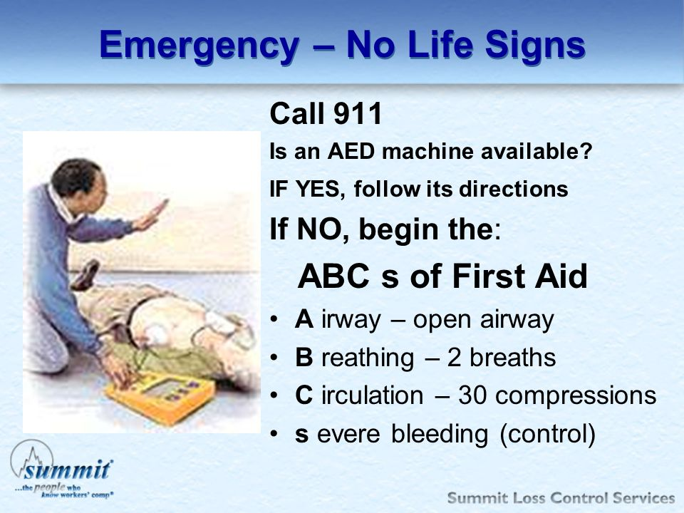 Emergency – No Life Signs