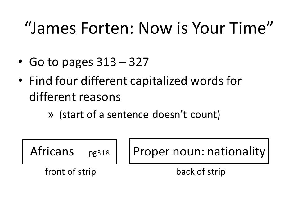 James Forten: Now is Your Time