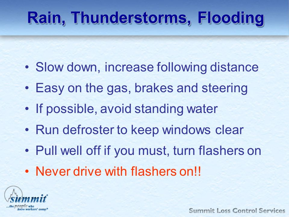 Rain, Thunderstorms, Flooding