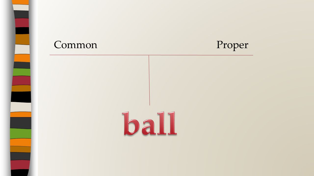 Common Proper ball