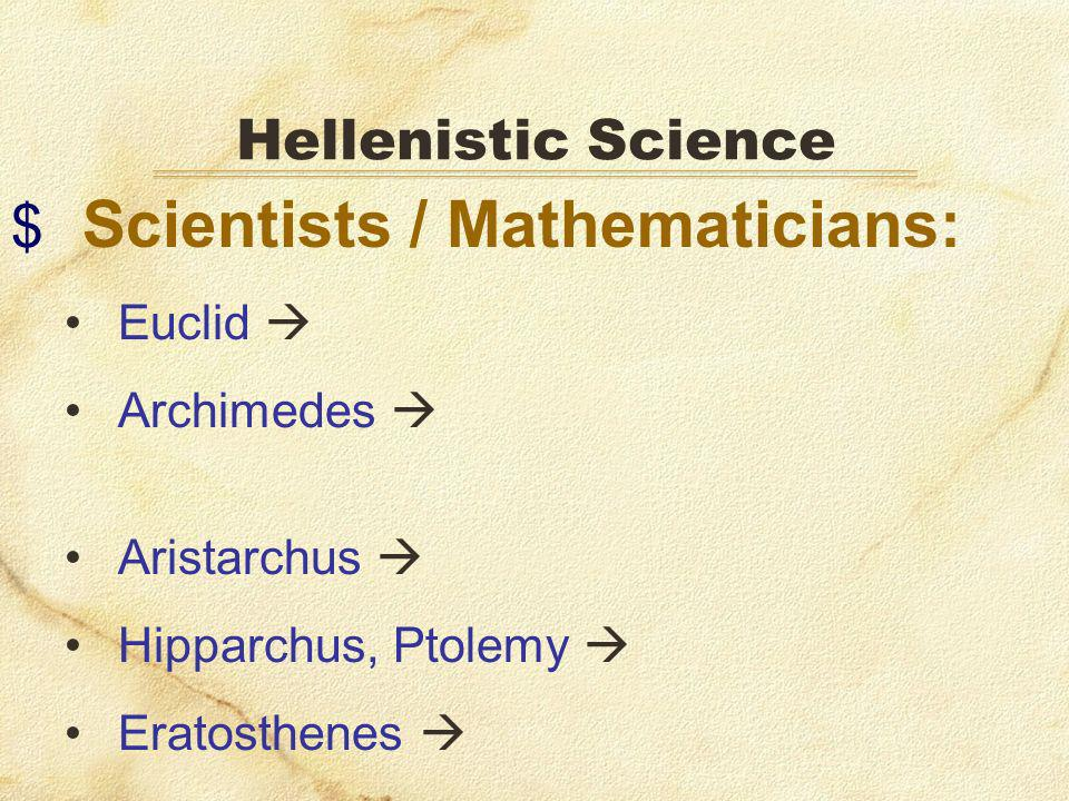 Scientists / Mathematicians: