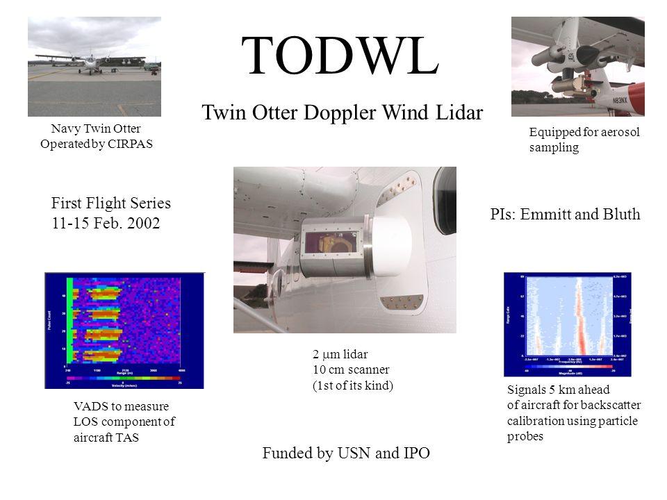 TODWL Twin Otter Doppler Wind Lidar First Flight Series