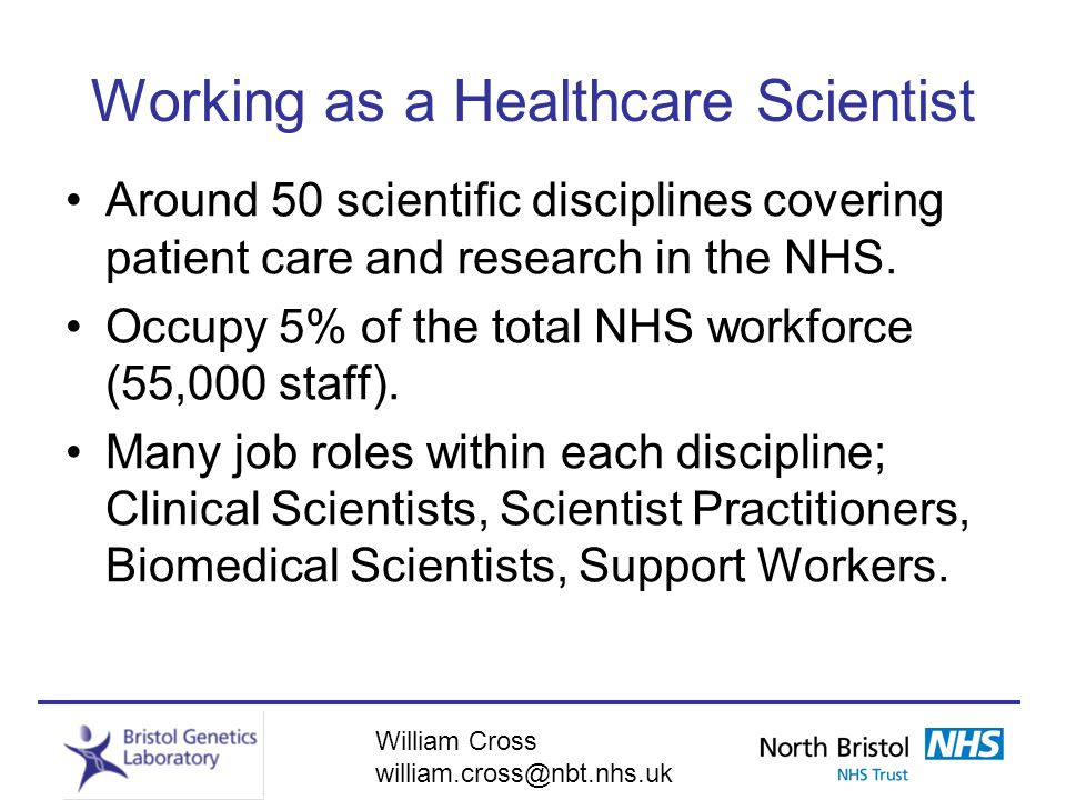 Working as a Healthcare Scientist