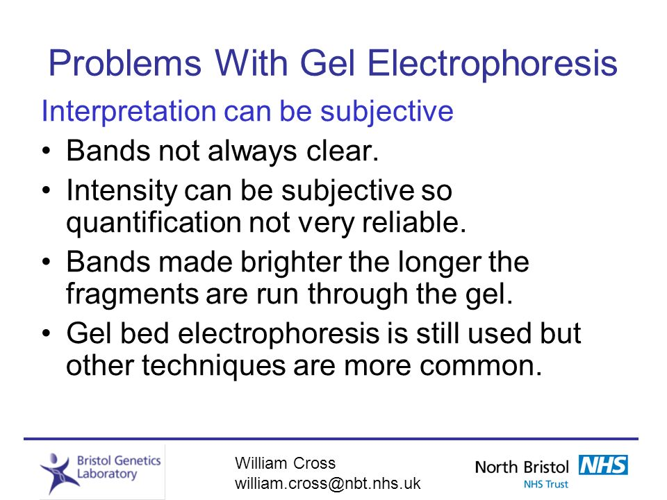 Problems With Gel Electrophoresis