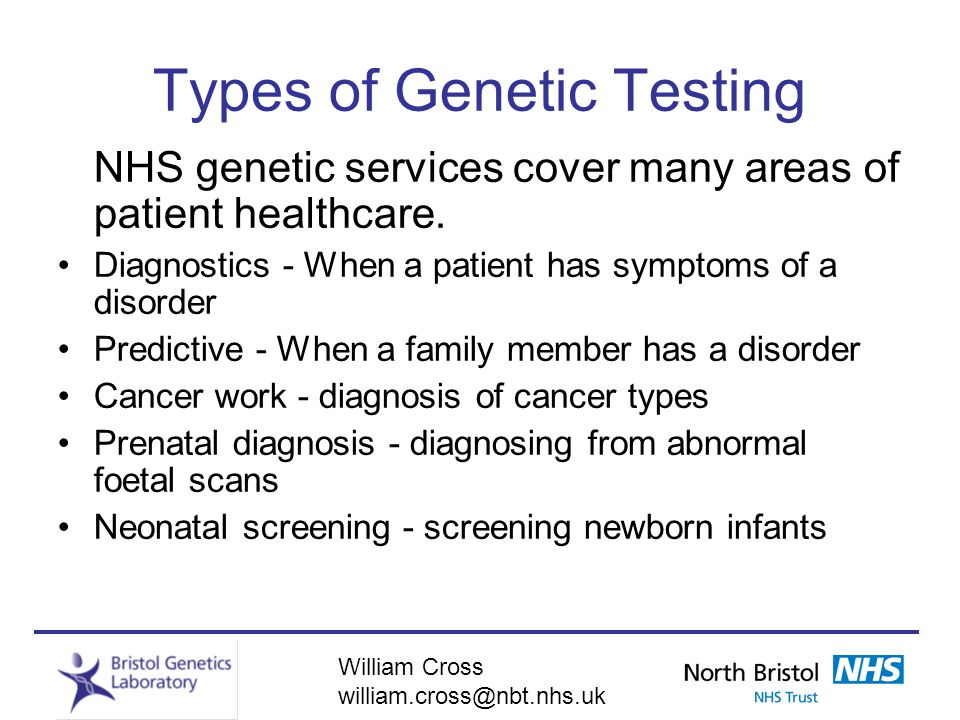Types of Genetic Testing