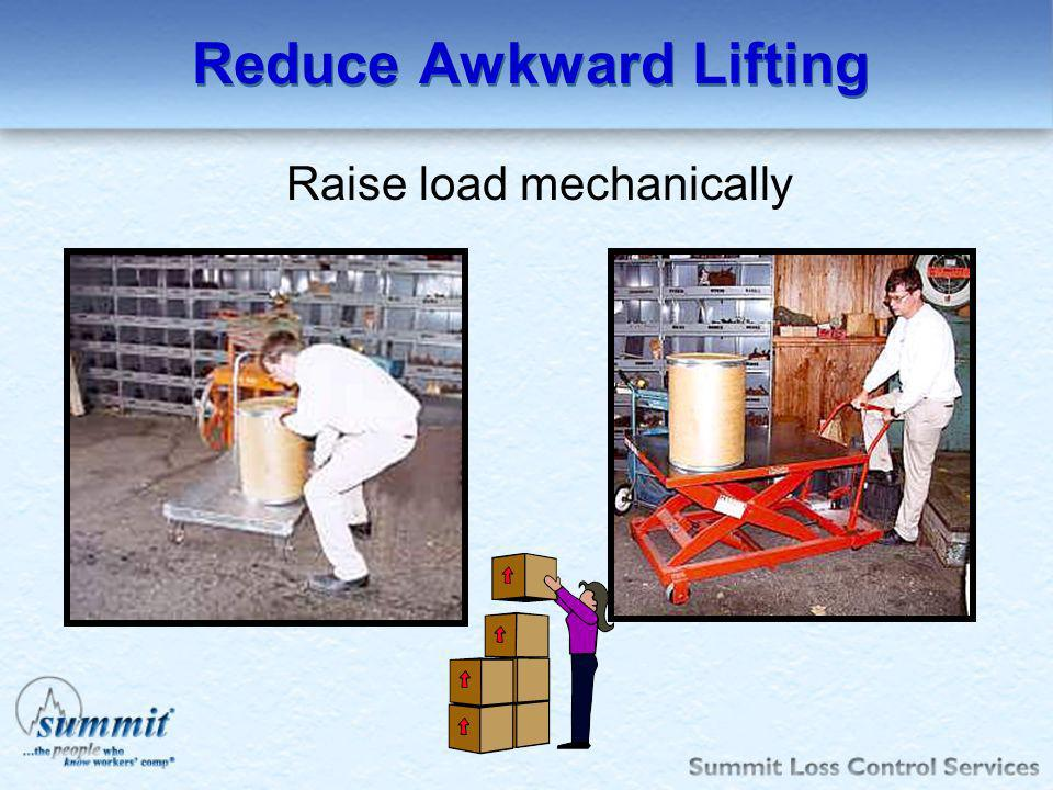 Reduce Awkward Lifting