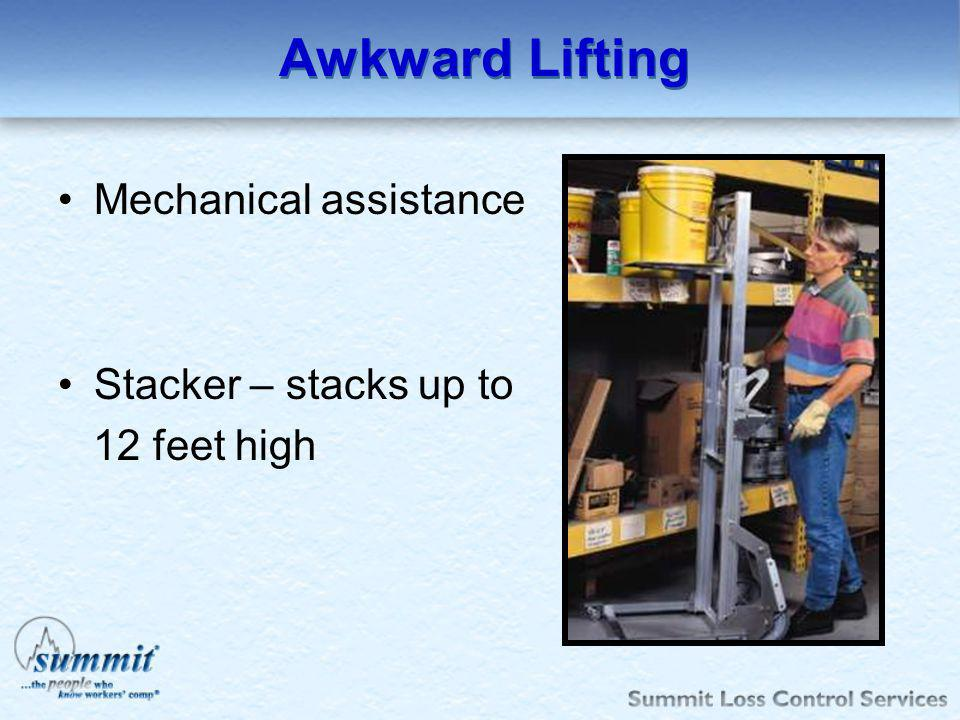 Awkward Lifting Mechanical assistance Stacker – stacks up to