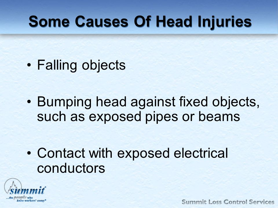 Some Causes Of Head Injuries