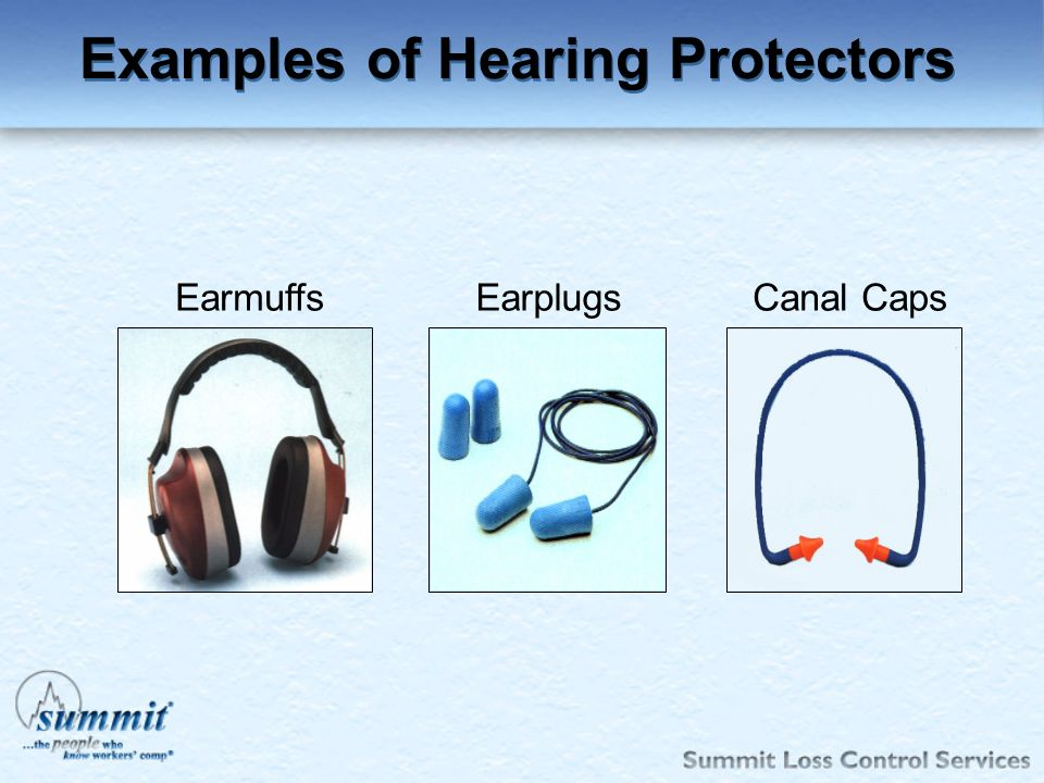 Examples of Hearing Protectors