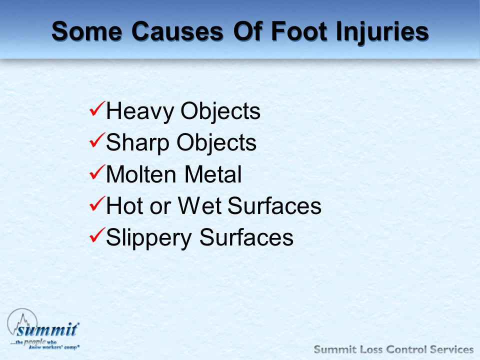 Some Causes Of Foot Injuries