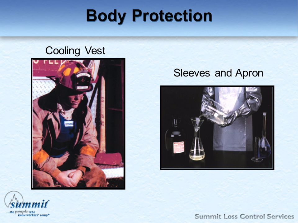 Body Protection Cooling Vest Sleeves and Apron