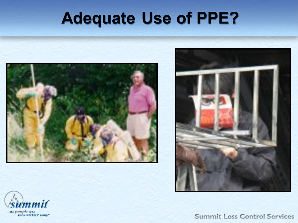 Adequate Use of PPE