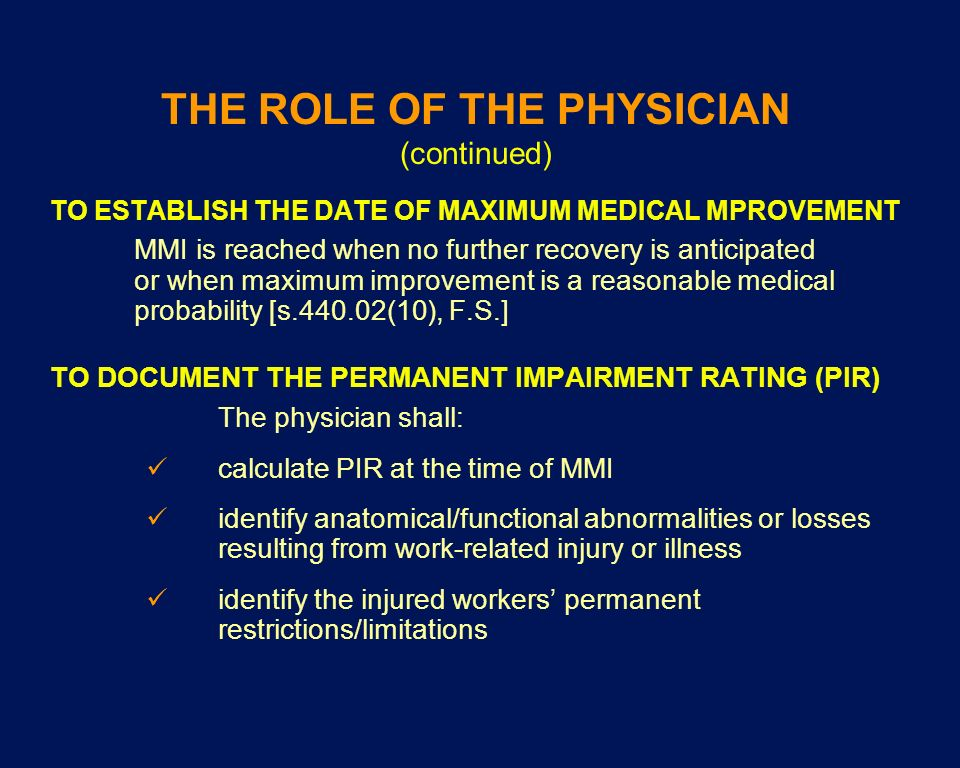 THE ROLE OF THE PHYSICIAN (continued)
