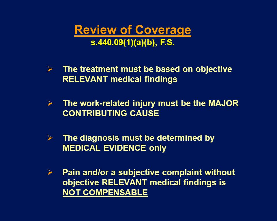 Review of Coverage s (1)(a)(b), F.S.