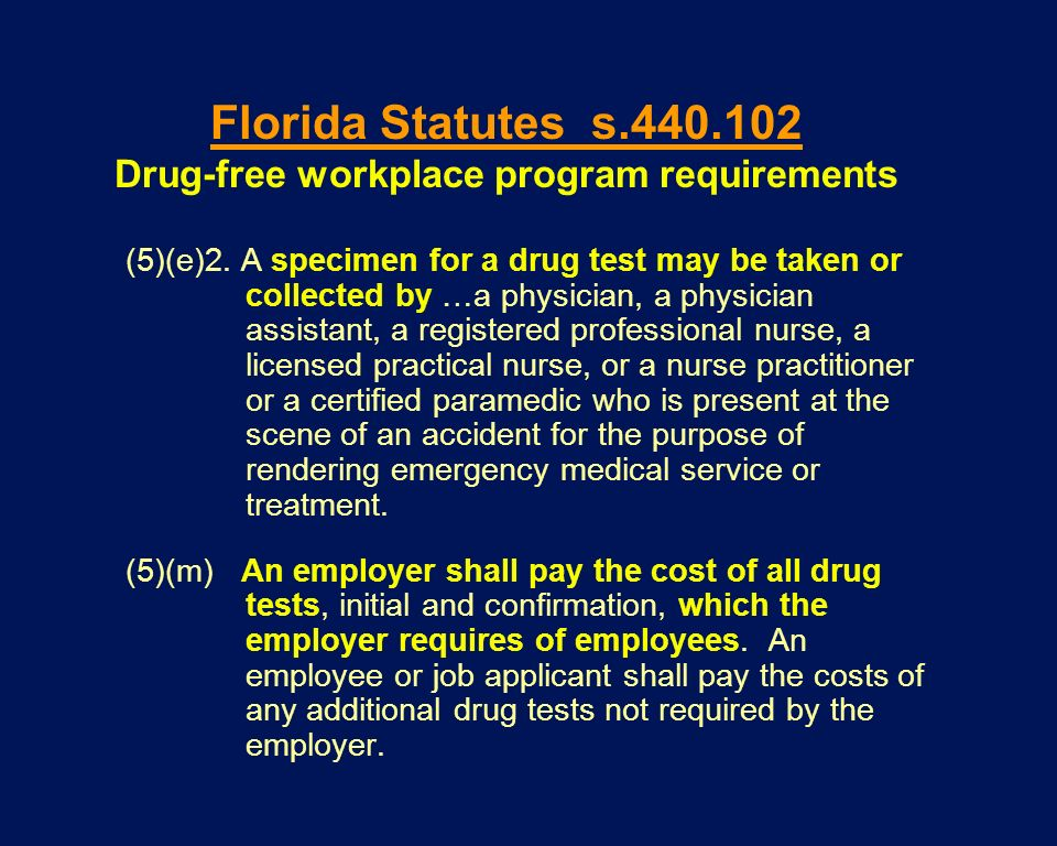 Drug-free workplace program requirements