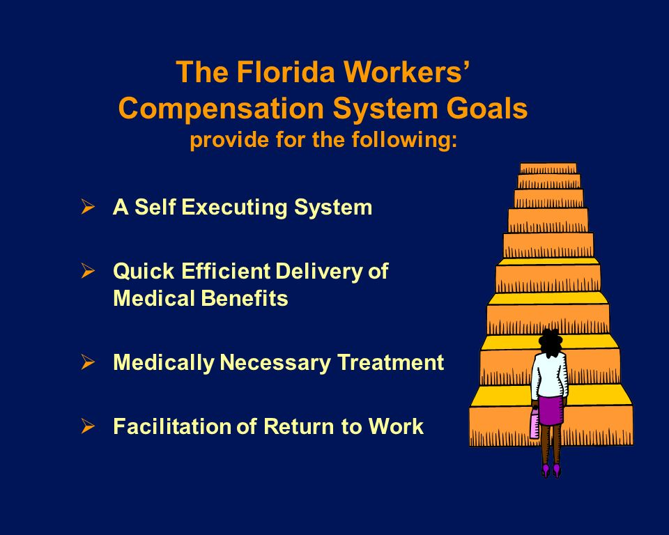 The Florida Workers' Compensation System Goals provide for the following: