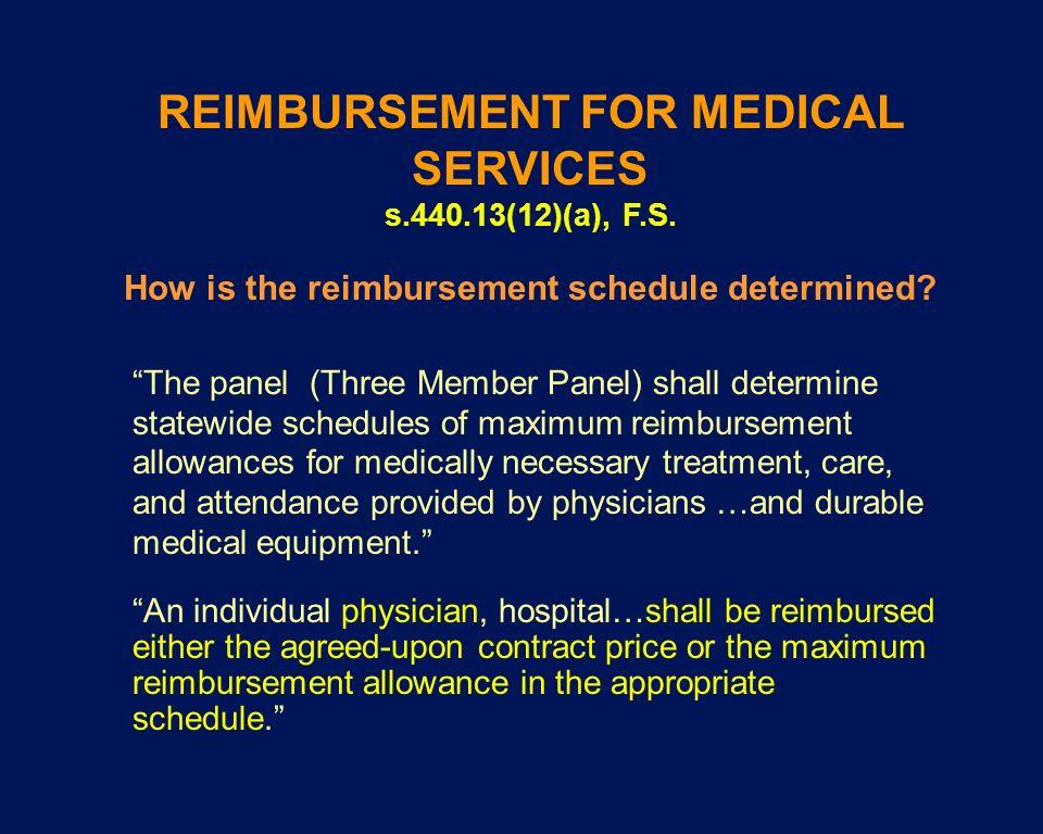 How is the reimbursement schedule determined