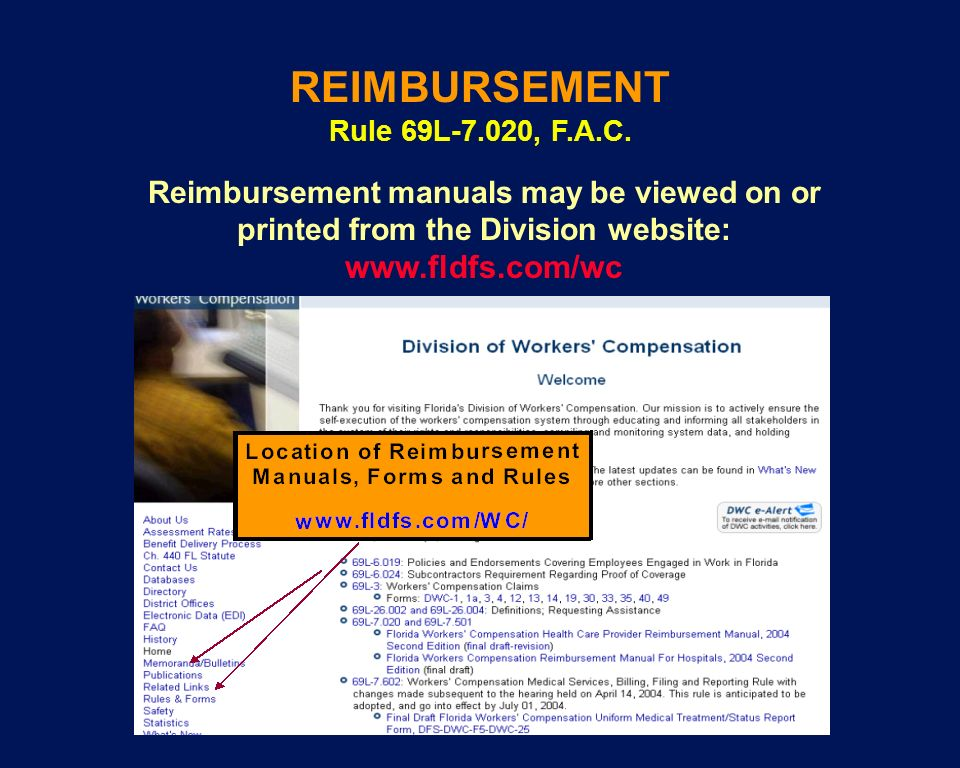 REIMBURSEMENT www.fldfs.com/wc