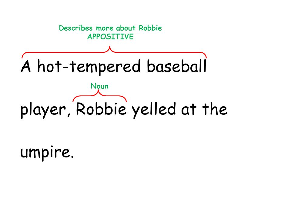 Describes more about Robbie