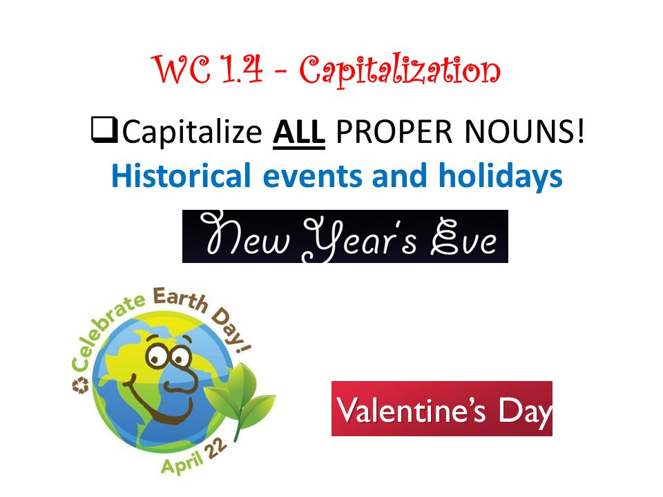 Historical events and holidays