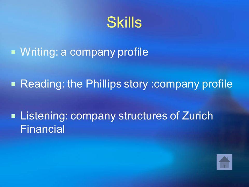 Skills Writing: a company profile