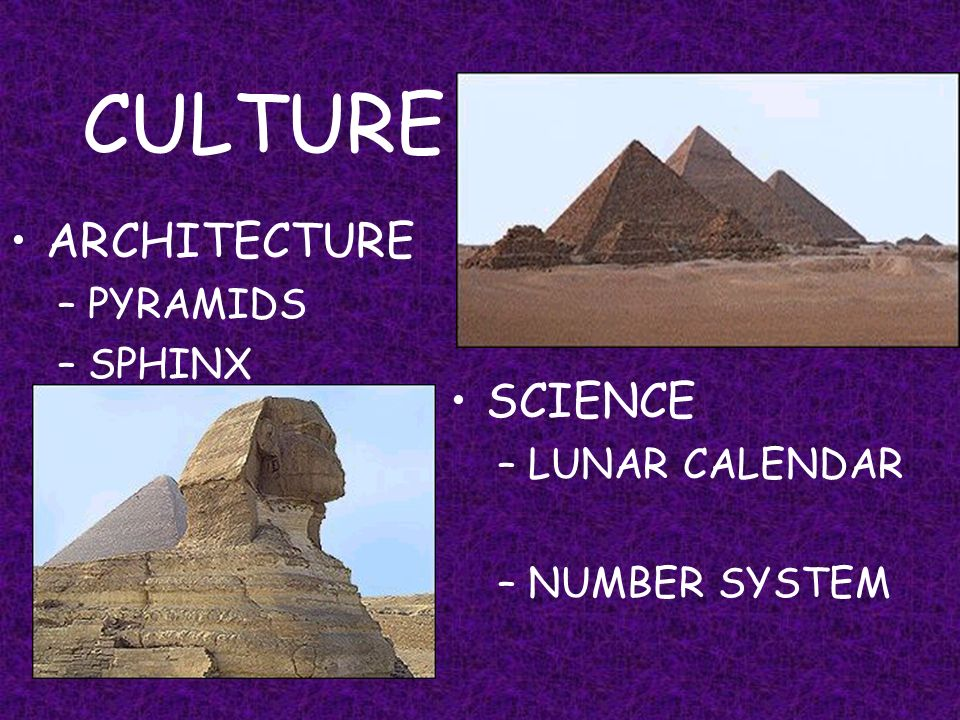 CULTURE ARCHITECTURE SCIENCE PYRAMIDS SPHINX LUNAR CALENDAR